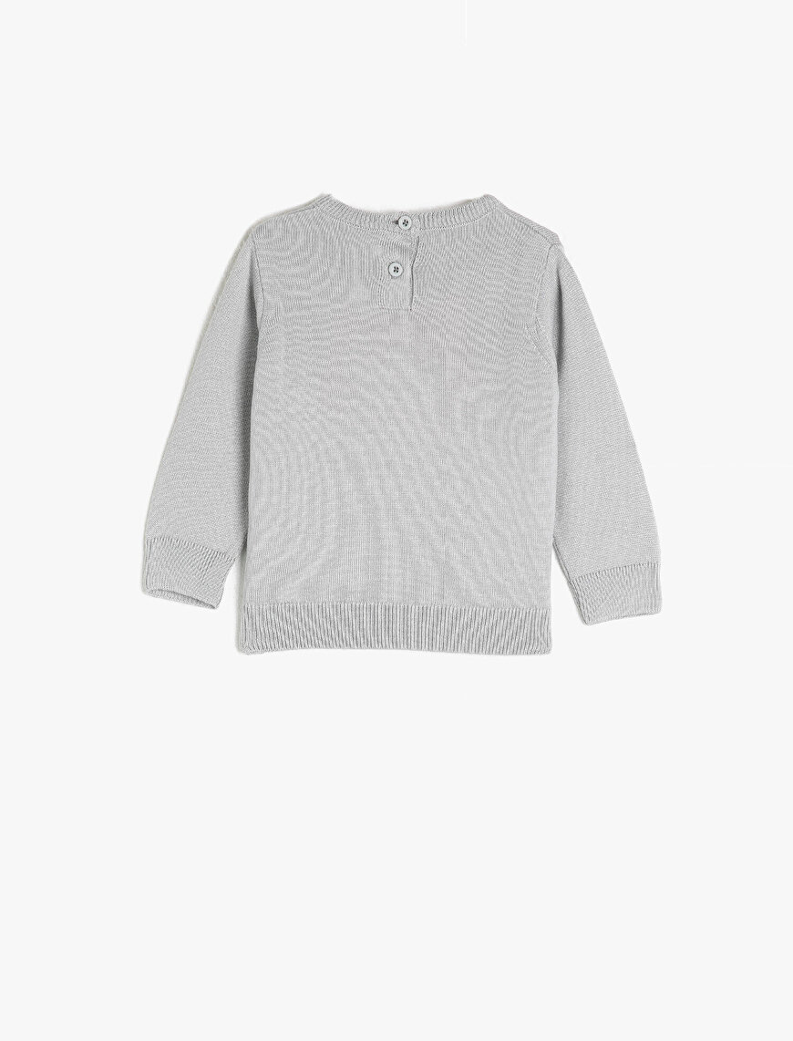 Cotton Printed Crew Neck Jumper