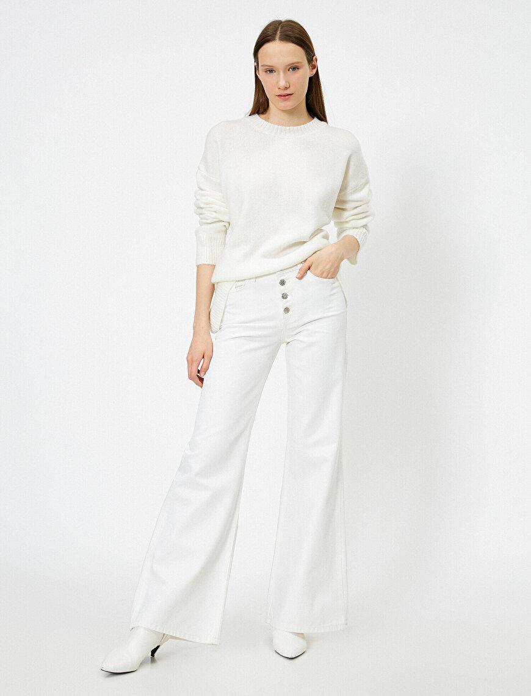Bianca Jean - Yüksek Bel Rahat Kesim Geniş Paça Pantolon