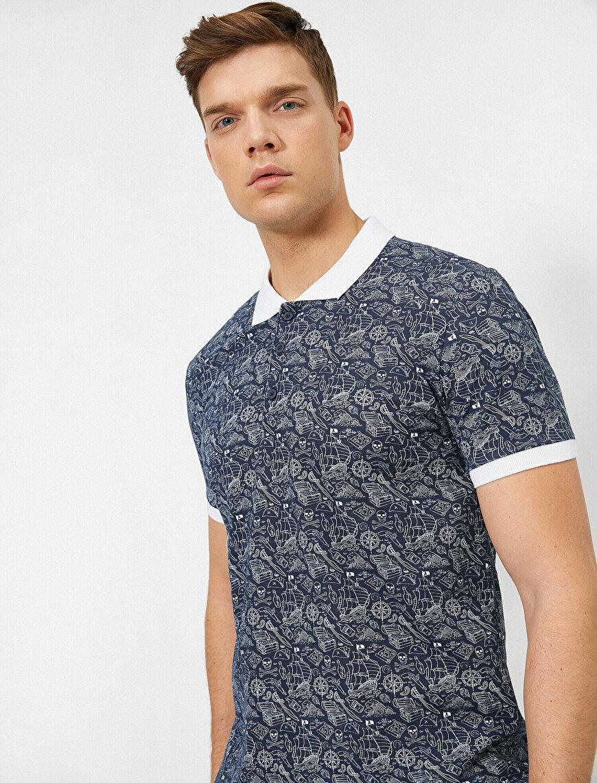 Polo Yaka Kontrast Yaka Süprem Kumaş Slim Fit Tişört