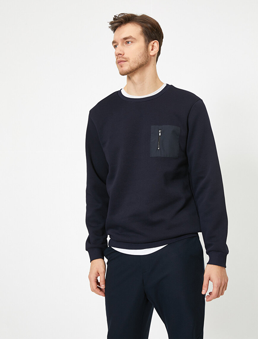 Zipper Detailed Sweatshirt