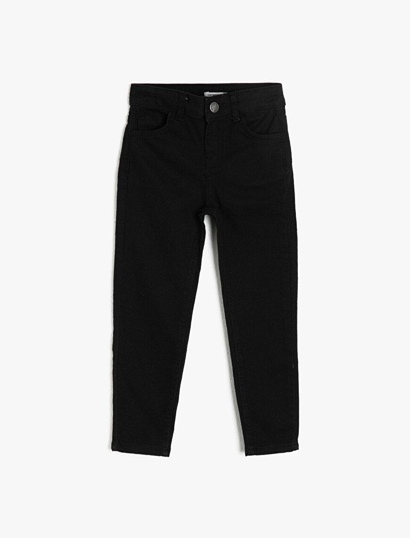 5 Cepli Basic Slim Fit Dar Paça Jean Pantalon