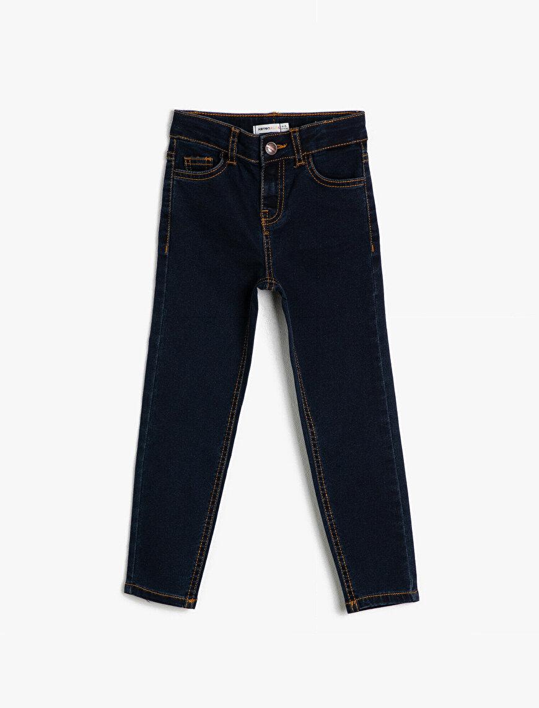 5 Cep Basic Slim Dar Paça Jean Pantalon