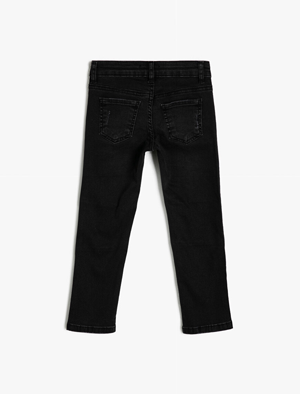 5 Cep Dizleri Dikişli Slim Dar Paça Jean Pantalon