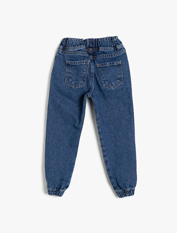 Normal Bel Pamuklu Jean Pantolon