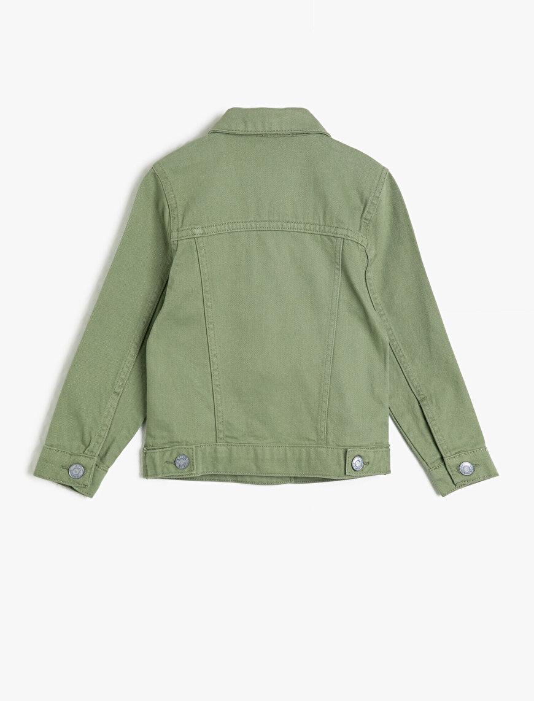 Düğmeli Cepli Jean Ceket