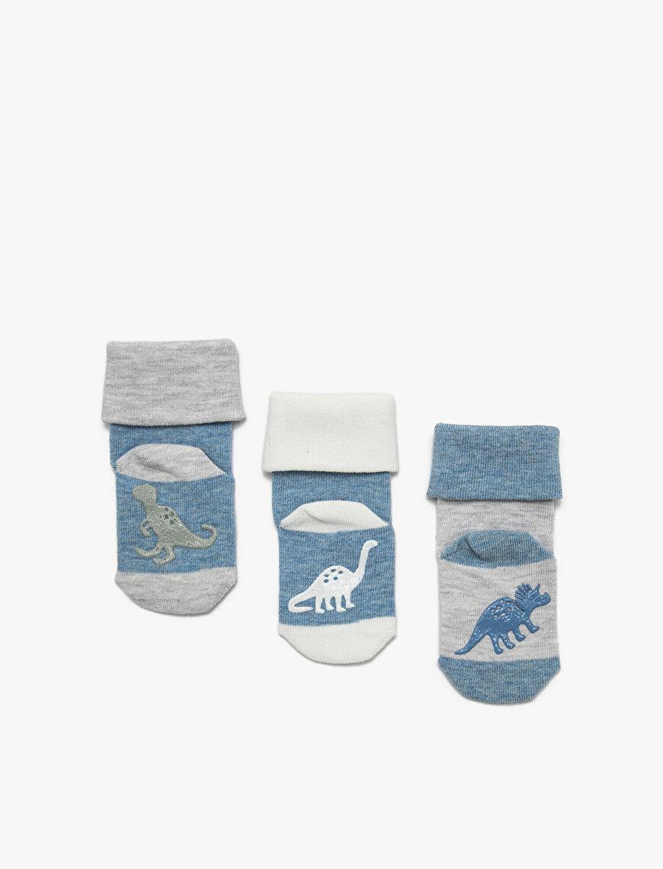 3'lü Erkek Bebek Çorap