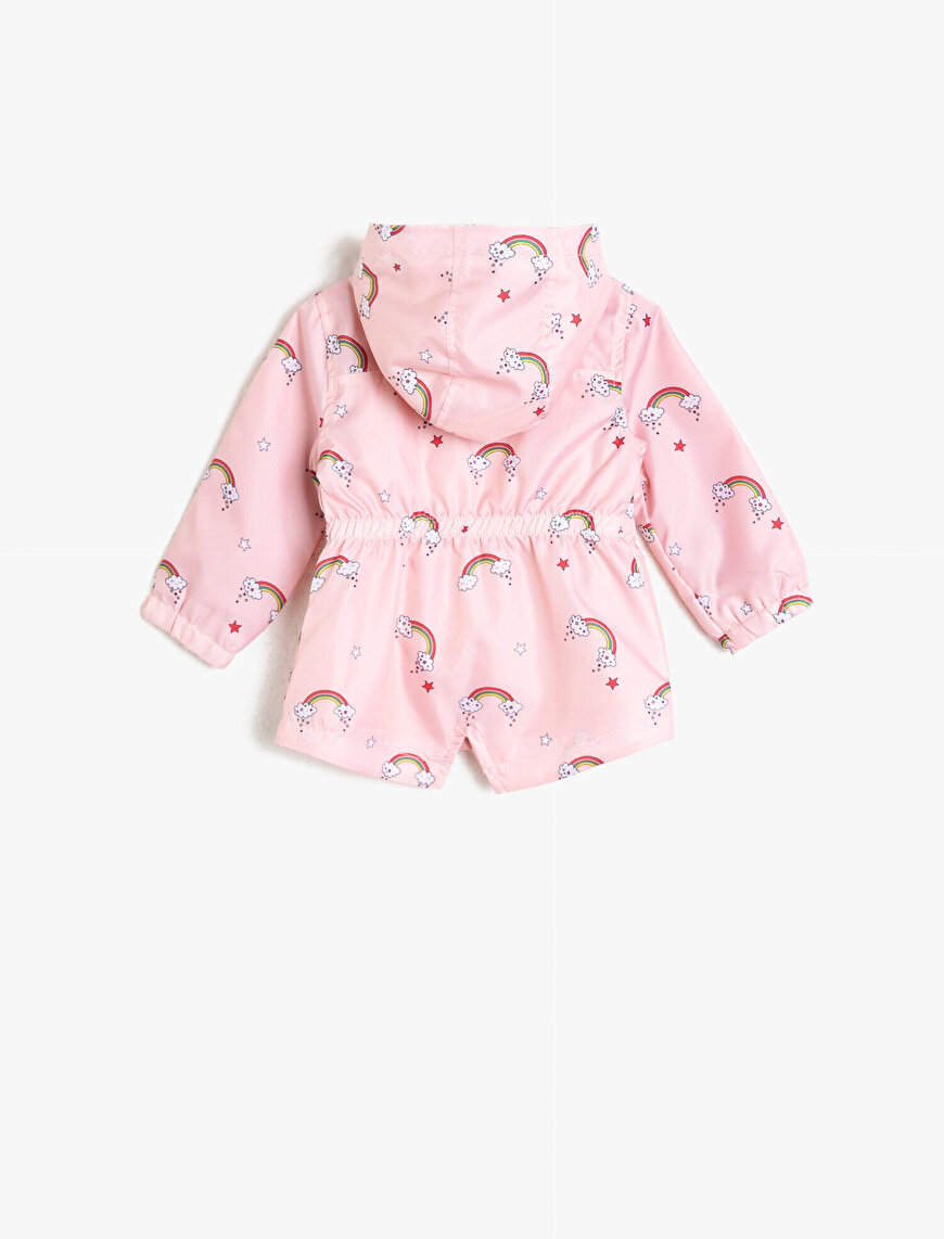 Hooded Printed Raincoat
