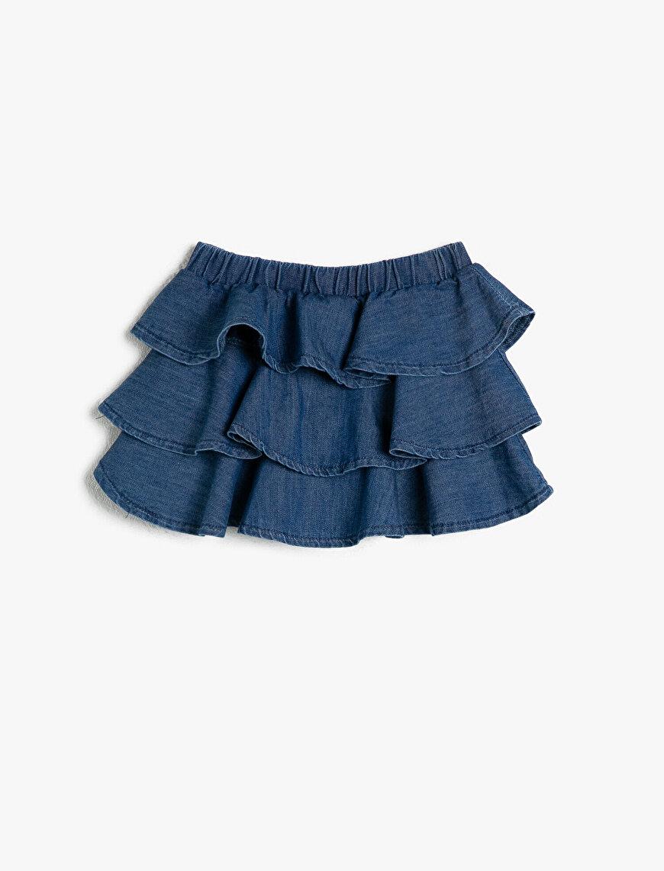 Frill Detailed Jean Skirt