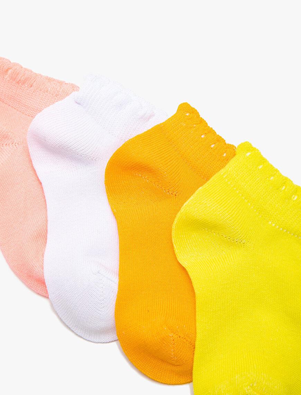 4'lü Kız Bebek Çorap