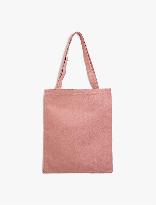 Organik Pamuk Yazılı Baskılı Bez Çanta