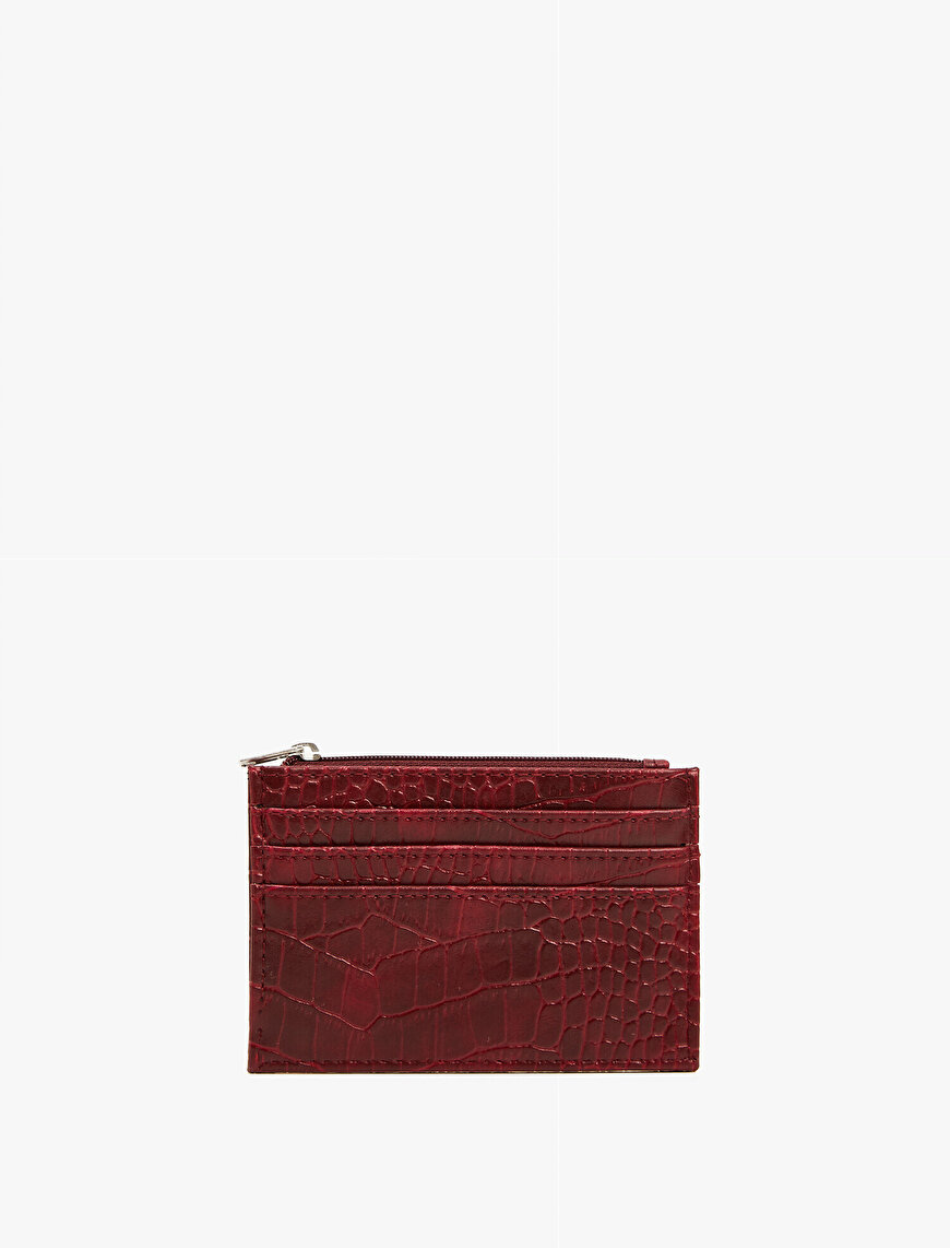 Crocodile Leather Patterned Wallet