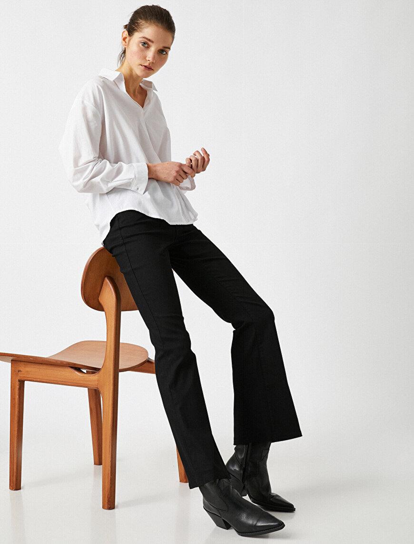 Yüksek Bel Victoria Jean - İspanyol Paça Pantolon