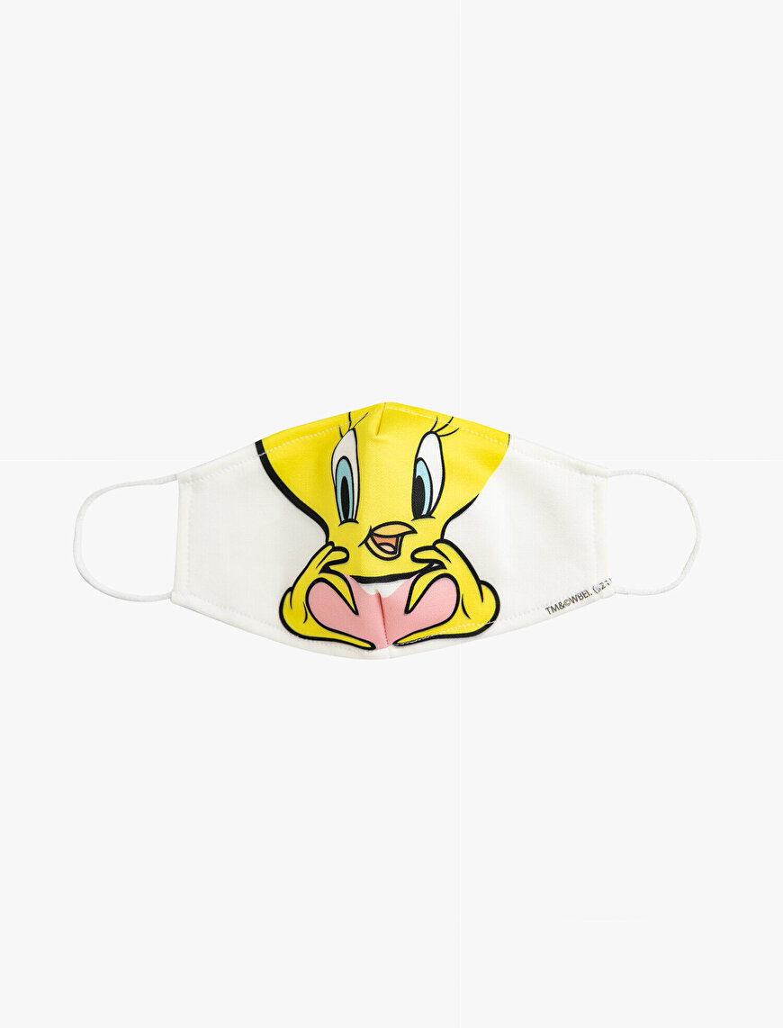 Tweety Licensed Printed Washable Fabric Mask