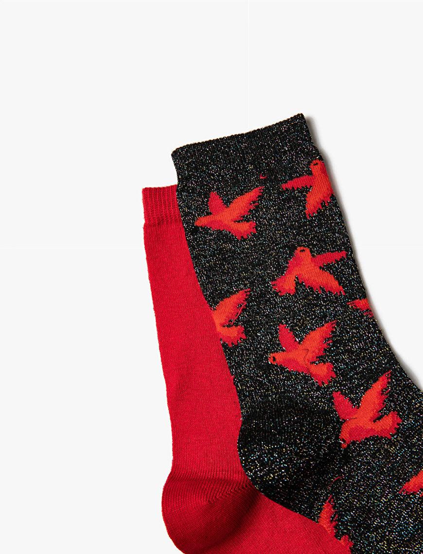 Woman Patterned 2 Pieces Socks Set