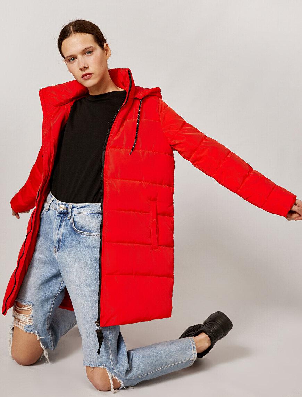 Puffer Coat Hooded Long Zipper