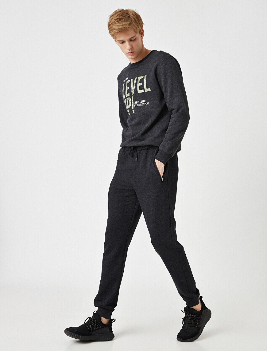 Drawstring Pocket Detailed Jogging Pants