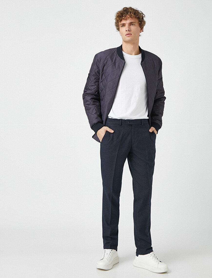 Slim Fit Comfort Strech Pocket Detailed Chino Trousers