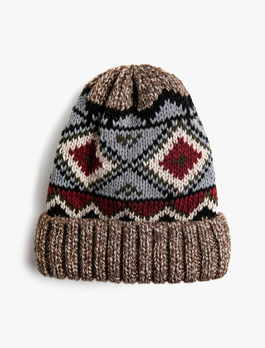 Patterned Knitted Beanie