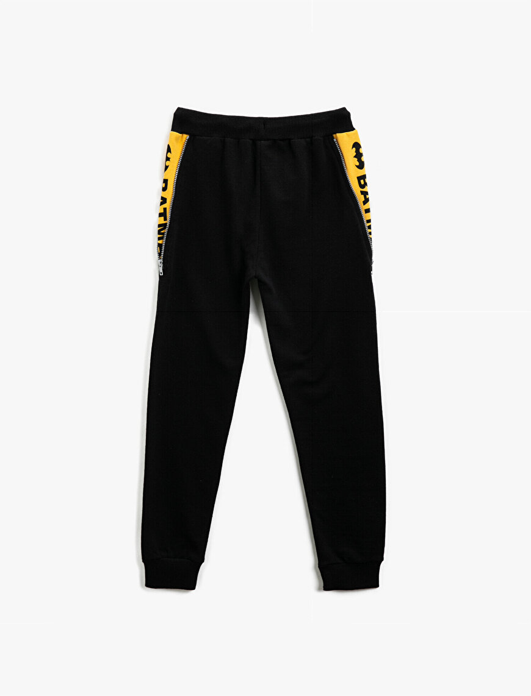 Batman Licensed Letter Printed Drawstring Jogging Pants