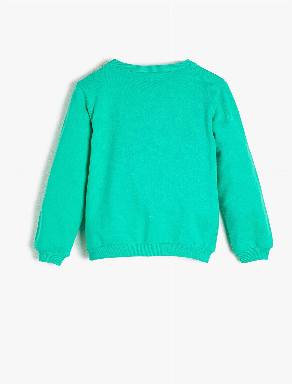 Cotton Letter  Printed Crew Neck Sweatshirt