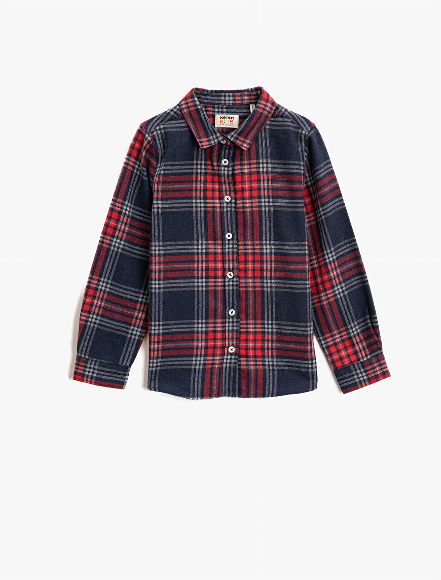 Classic Color Long Sleeve Check Shirt