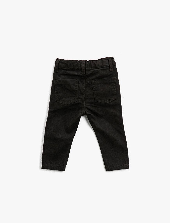 Pamuklu Normal Bel Düğmeli Pantolon