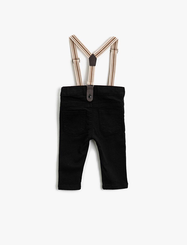 Askılı Normal Bel Cepli Pantolon