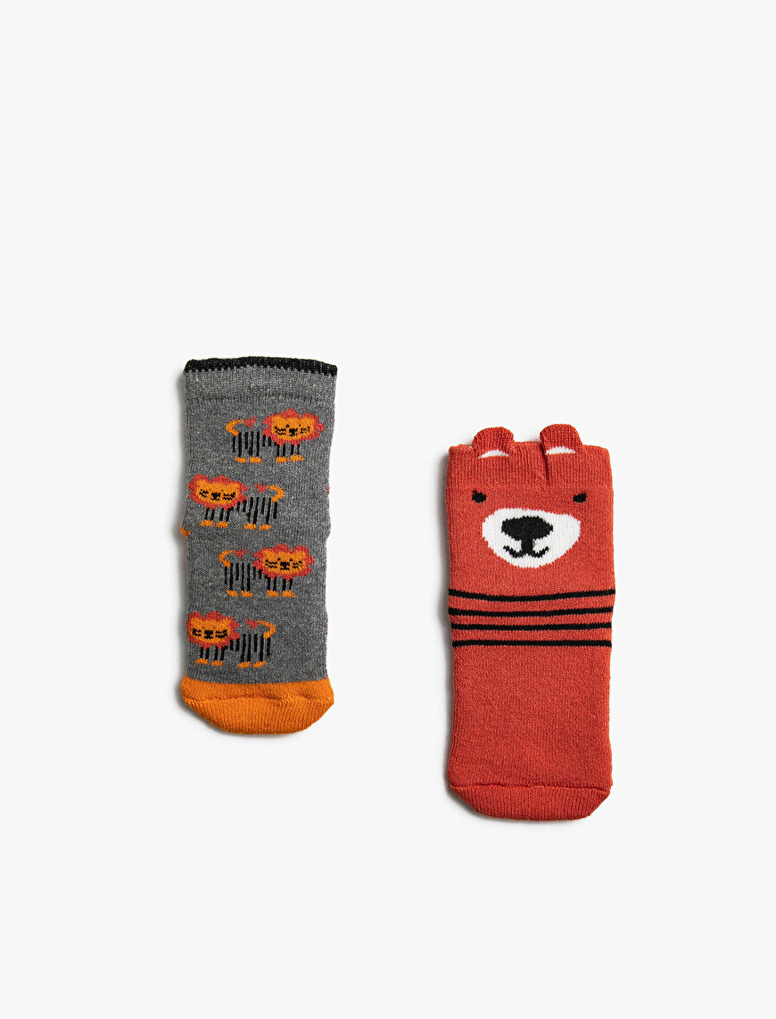 Baby Boy Patterned 2 Pieces Socks Set