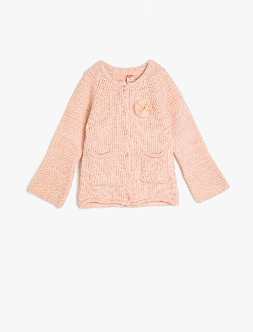 Pocketed Buttoned Cardigan