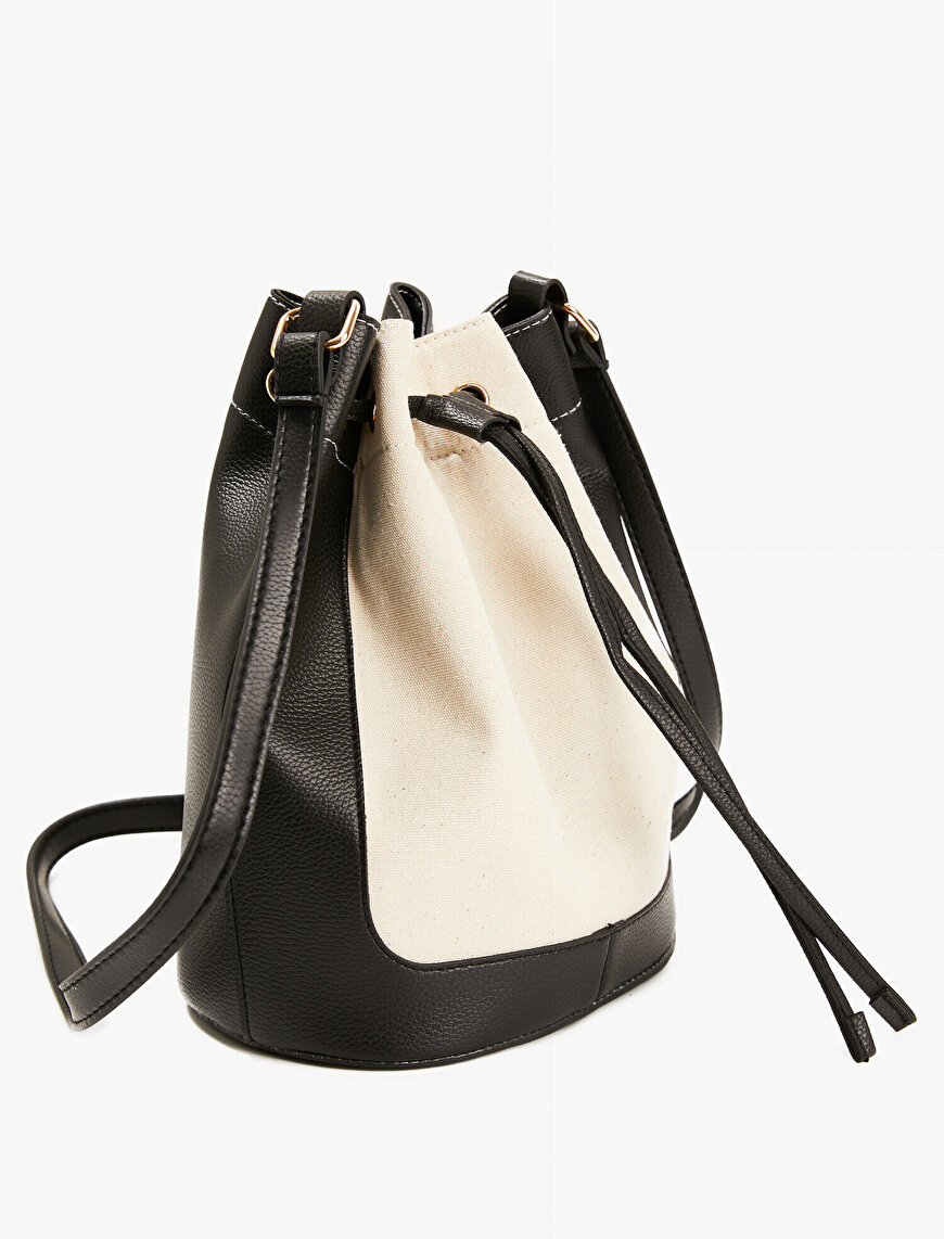Leather Detailed Bag Bucket