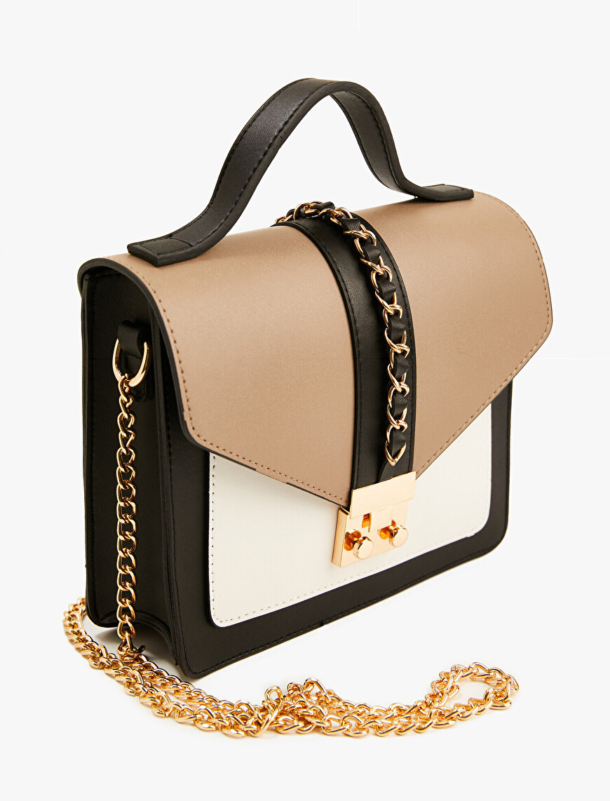 Faux Leather Bag Chain