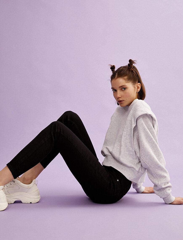 Carmen Jean - Pamuklu Skinny Yüksek Bel Dar Kesim Dar Paça Pantolon