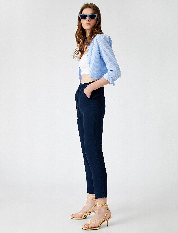 Belden Bağlamalı Pantolon