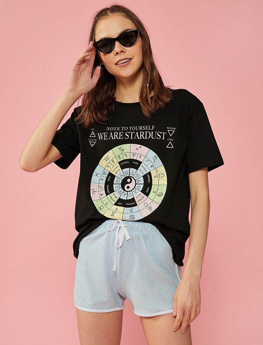 Printed T-Shirt Crew Neck Cotton