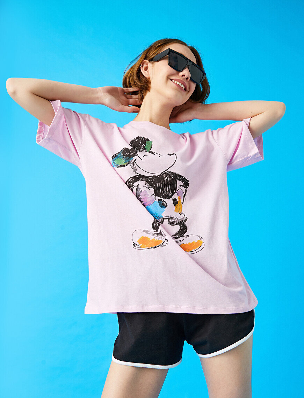 Mickey Mouse Tişört Lisanslı Pamuklu Oversize