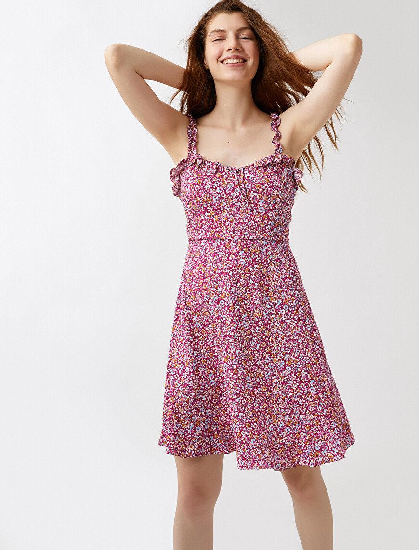 Çiçekli Yazlık Elbise Askılı