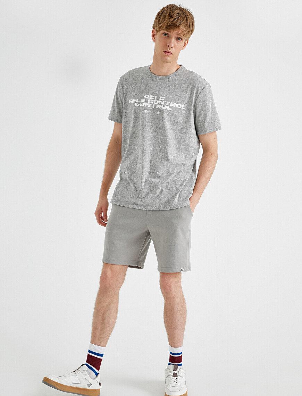 Sloganlı Tişört Pamuklu