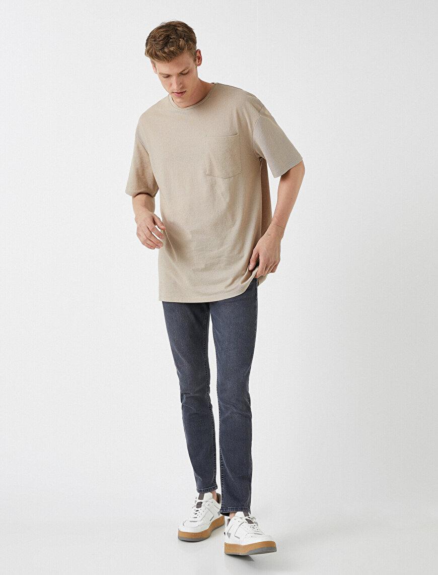 Michael Skinny Fit Jean Kot Pantolon