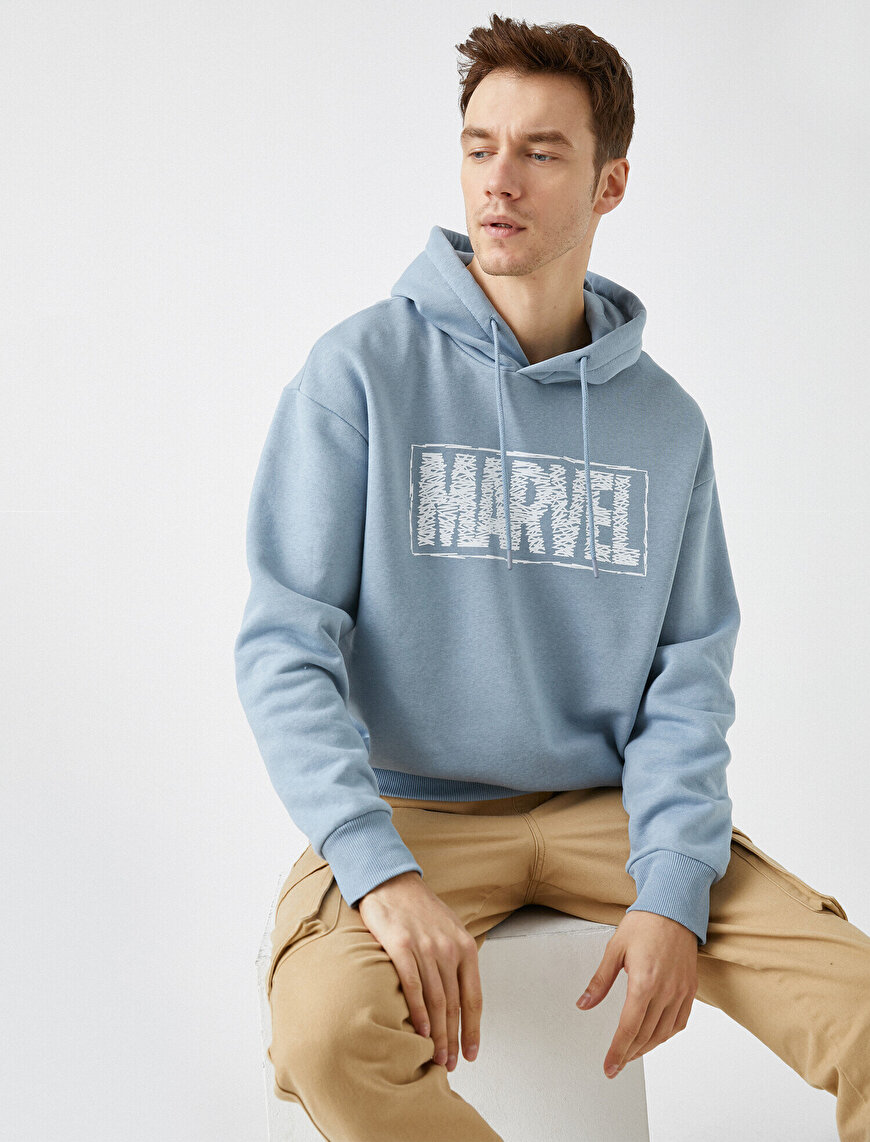 Marvel Licensed Printed Hooded Cotton Sweatshirt