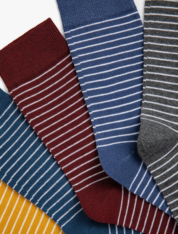 Man Striped Socks Set Cotton