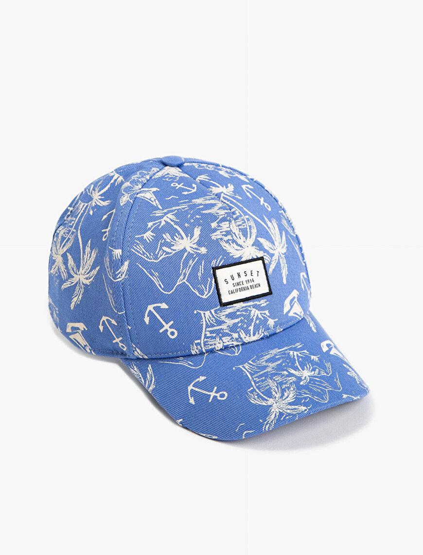 Desenli Kep Şapka