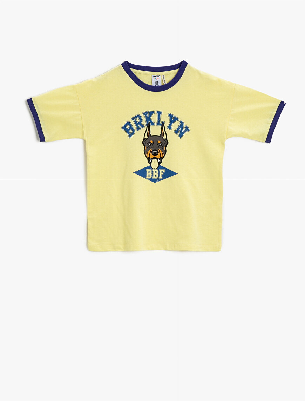 Printed T-Shirt Crew Neck Short Sleeve Cotton