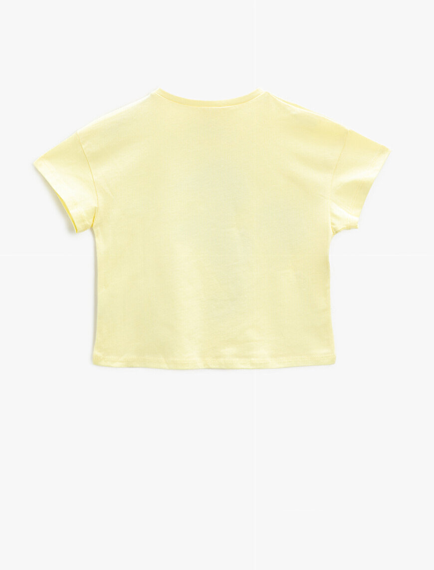 Sequinned T-Shirt Crew Neck Cotton