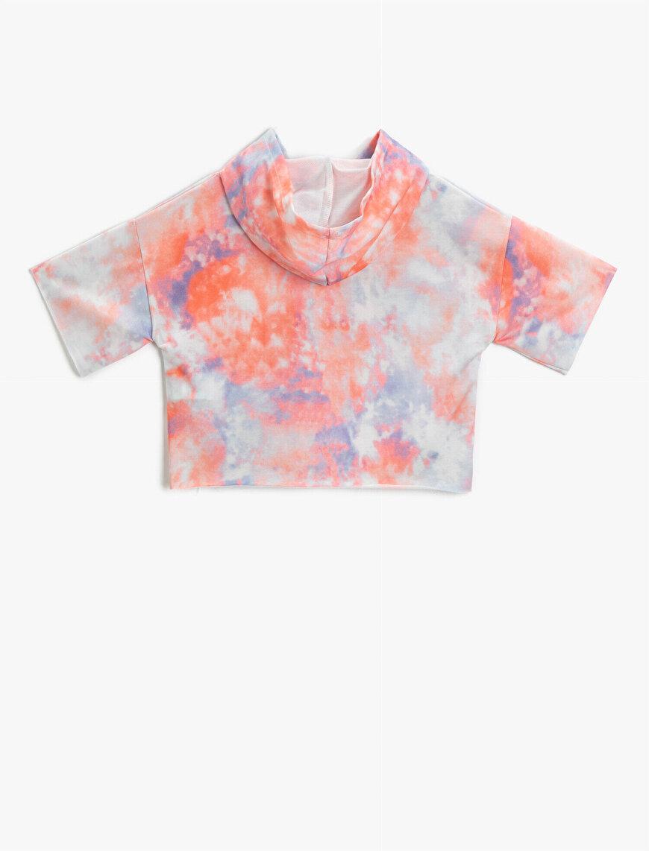 Kapüşonlu Tişört Desenli