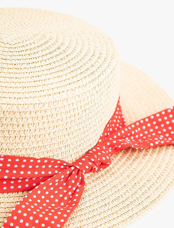 Kurdeleli Hasır Şapka Kız Çocuk