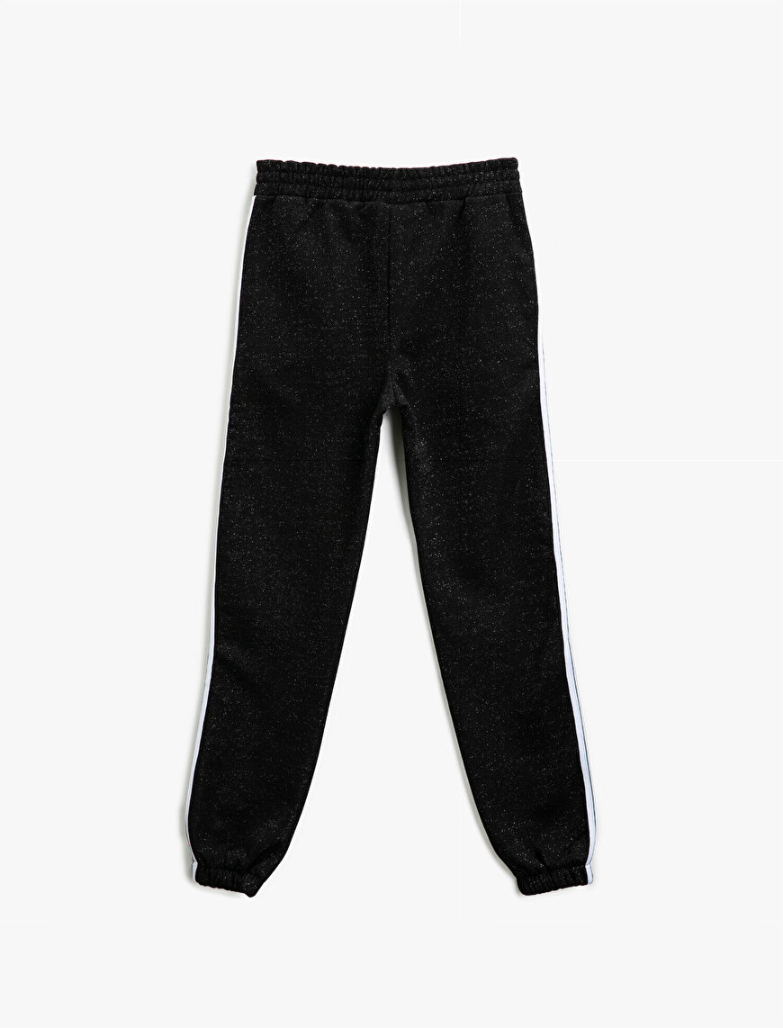 Medium Rise Striped Jogging Pants