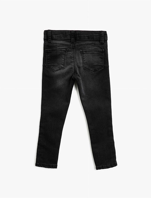 Paçası Çıtçıtlı Slim Fit Pamuklu Jean Pantolon