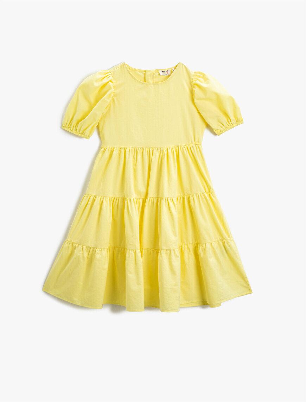 Yazlık Elbise Balon Kollu
