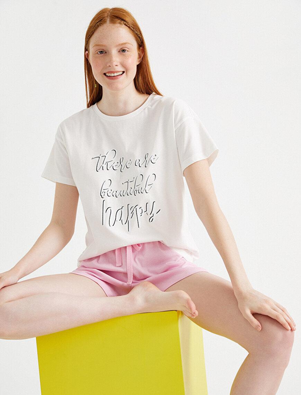 Baskılı Pijama Takımı Pamuklu