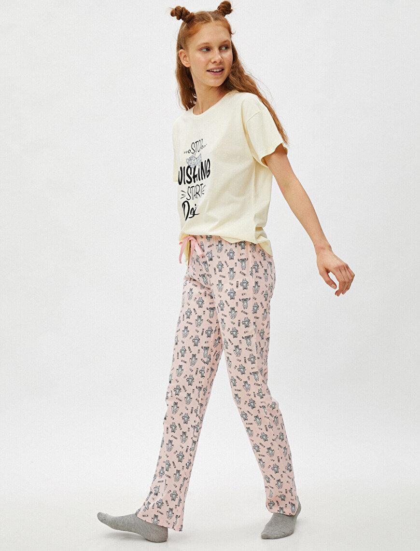 %100 Pamuk Baskılı Pijama Takımı